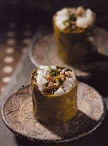 Receta de Rollitos de carne picada envuelta en hojas de viña