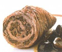 Rollitos de ternera rellenos de aceitunas y jamón cocido