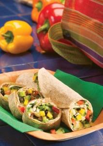 Rollitos de tortilla con vegetales