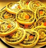 Rollo relleno de espinacas y zanahoria