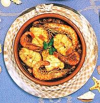Romesco de pescado