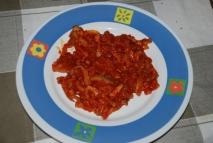 Rovellones con tomate