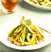 Salteado de verduras con pavo