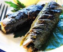 Receta de Sardinas envueltas en hojas de vid