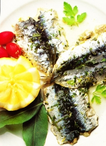 Sardinas horneadas con limón
