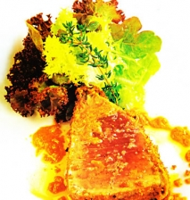Receta de Semicuit de atún y escabeche de romesco