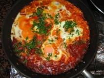 Shakshuka con huevos