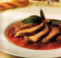 Solomillo de cerdo con compota de cebolla