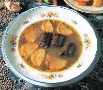 Sopa de lentejas con morcilla