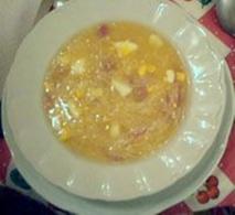 Sopa de menudillos