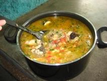 Sopa de pescado a la vasca