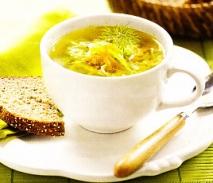Sopa vegetal con sémola