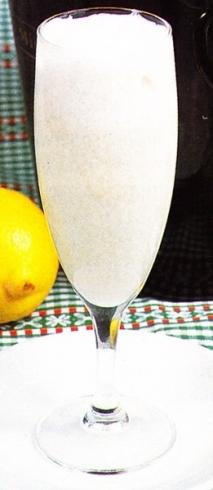Sorbete de cava al limón