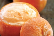 Sorbete de naranja y malta