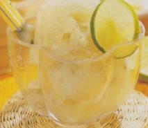 Sorbete de uvas blancas al limón verde