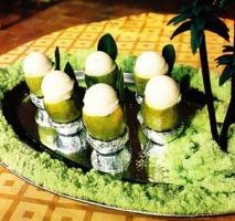 Sorbetes de limón verde