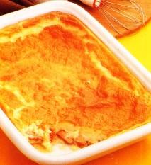 Soufflé de patatas y salchichas