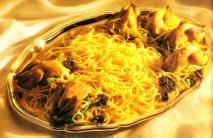 Espaguetis con codornices