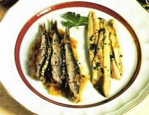 Surtido de anchoas con salsa chimichurri