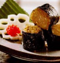 Tacos de atún  y semillas de sésamo