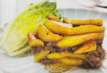 Terrina de butifarra dulce de Girona y manzana