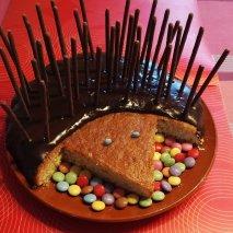 Receta de Tarta con forma de puerco espín