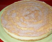 Tarta de crema catalana sin horno