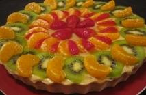Tarta de frutas naturales