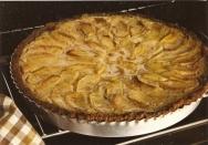 Tarta de manzana y galletas María