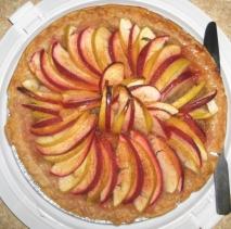 Receta de Tarta de manzana y mermelada de melocotón