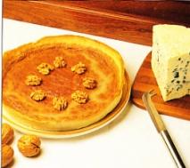 Tarta de nueces al Roquefort