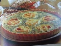 Tarta de puerros y setas con queso de cabra