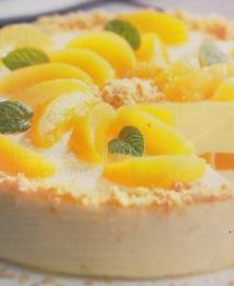 Tarta de yogur y albaricoques