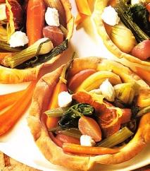 Tartaletas con verduras