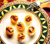 Tartaletas de samfaina y anchoas