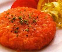Tartar de salmón y atún