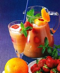 Té frío con frutas