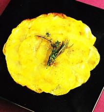 Receta de Teglia de patata y setas de calabaza confitadas