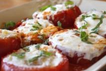 Tomates a la mozzarela
