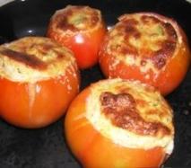 Tomates al horno rellenos