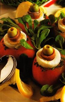 Receta de Tomates rellenos de salmón