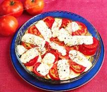 Tomates y calabacines gratinados