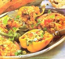 Tomates y pimientos rellenos