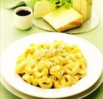 Receta de Tortellini a los cuatro quesos