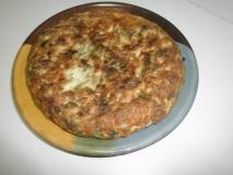 Tortilla de escarola y setas de cardo