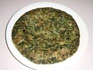 Tortilla de espinacas y anchoas
