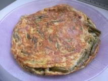 Tortilla de judías verdes con jamón