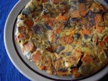 Receta de Tortilla de otoño de setas y calabaza