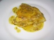 Tortilla de patatas en salsa