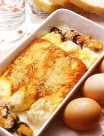 Tortilla de pescado y marisco